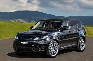 Картинка Land Rover Черный Металлик 2015-17 Sport SVR Автомобили