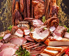 Картинки Мясные продукты Ветчина Сало