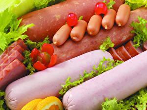 Обои Мясные продукты Колбаса Сосиска
