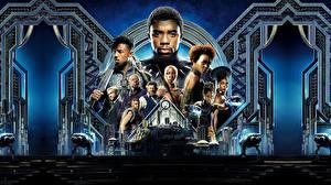 Обои Мужчины Негр Black Panther 2018, Chadwick Boseman Фильмы