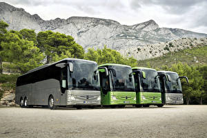 Обои Mercedes-Benz Автобус 2017 Tourismo Машины