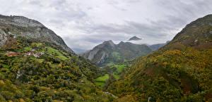 Картинки Испания Горы Леса Ponga