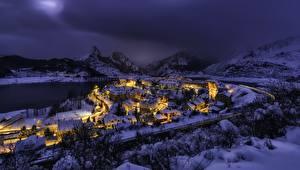 Обои Испания Зимние Снег Castille and Leon, Riano