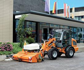 Фотографии Оранжевый Street sweeper, 2014-17 Weidemann 2080 Municipal