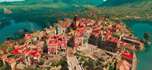 Фото Ведьмак 3: Дикая Охота Сверху Blood and Wine Игры Города 3D_Графика