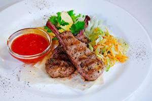 Картинка Вторые блюда Мясные продукты Овощи Кетчупа