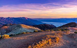 Фотографии США Парки Речка Холмы Death Valley National Park Природа