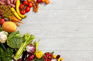 Картинки Овощи Дыни Капуста Томаты Морковь Клубника Доски Пища