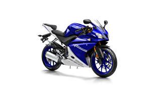 Фото Yamaha Белый фон Синих 2014-17 YZF-R125