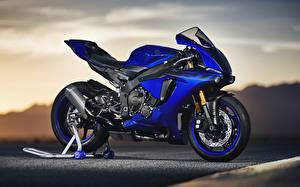 Обои Ямаха Синий YZF R1 2018 Мотоциклы