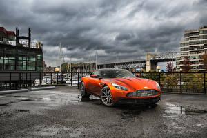 Обои Астон мартин Оранжевый Металлик 2017 DB11 Машины