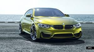Фотографии BMW Салатовая M4 CGI Vedat Afuzi Design машины
