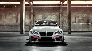 Картинки BMW Спереди Белых Racing Cup M235i AC Schnitzer M2 машины