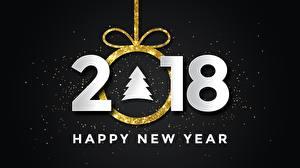 Фотография Новый год 2018 Английский Елка Слово - Надпись