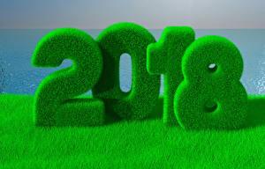 Обои Новый год 2018 Трава