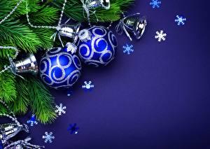 Картинки Рождество Шар Синий