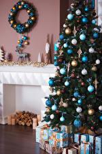 Фотография Рождество Новогодняя ёлка Шар Подарки