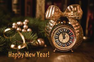 Фотография Новый год Часы Будильник Английский Бантик
