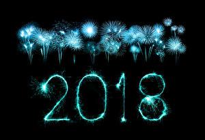 Картинки Новый год Салют Черный фон 2018