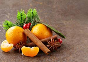 Обои Рождество Апельсин Бадьян звезда аниса Корица