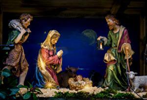 Фото Новый год Религия Младенец Лучи света