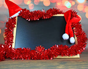 Фотографии Новый год Шаблон поздравительной открытки Шапки