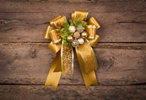 Картинка Новый год Доски Шарики Бантик Дизайн Золотой