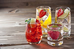 Обои Напиток Фрукты Доски Стакан Продукты питания