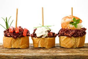 Фотографии Быстрое питание Бутерброды Хлеб Втроем