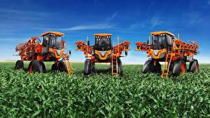Фотография Поля Сельскохозяйственная техника Втроем 2016-17 Jacto Uniport 4530