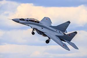 Картинки Самолеты Истребители Русские Летящий МиГ-35
