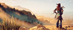 Картинка Horizon Zero Dawn Воины Игры 3D_Графика Девушки