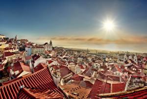 Фотография Здания Португалия Крыша Lisbon Города