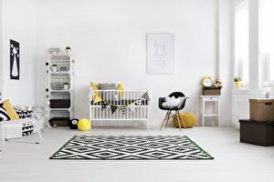 Фото Интерьер Детская комната Дизайн Кровать Кресло Ковер