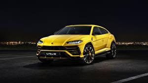 Картинки Ламборгини Желтый Urus 2018 Автомобили