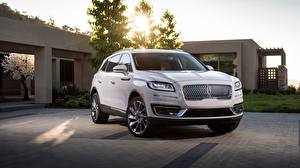Обои Lincoln Белых 2019 Nautilus машины
