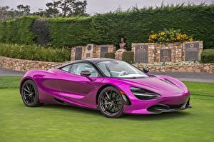 Фото McLaren Фиолетовых Металлик 2017 MSO 720S Coupe Fux Fuchsia Автомобили