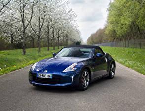 Картинки Ниссан Синих Металлик 2012-17 370Z Roadster Worldwide автомобиль