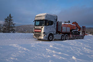 Картинка Сканиа Грузовики Снег 2013-17 R580 6×4 Streamline Topline Cab