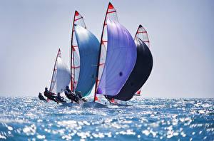 Картинки Море Парусные Лодки