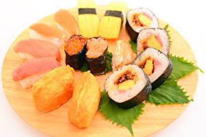 Картинки Морепродукты Суши Икра Рыба