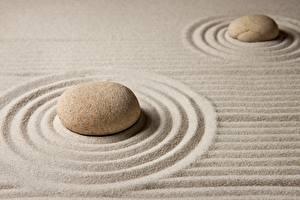 Фотографии Камень Песок Окружность zen