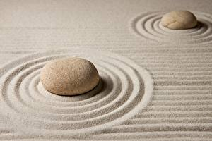 Фотографии Камни Песок Круги zen