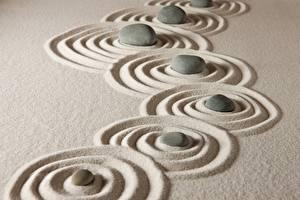Фотографии Камень Песка Круги zen