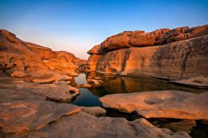 Фото Таиланд Каньон Скалы Sam Phan Bok rock canyon Природа