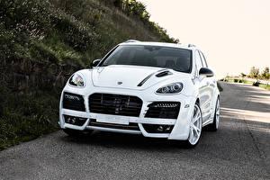 Фотографии Белый Металлик Спереди 2011 TechArt Magnum  Edition Gold Автомобили