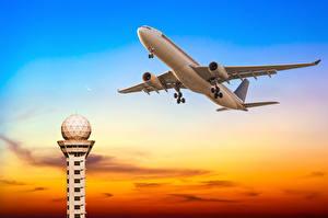 Фотография Самолеты Пассажиры 2016 Небо Полет