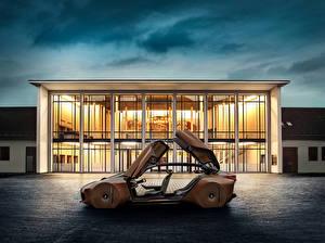 Картинка BMW Сбоку Коричневый Металлик 2016 Vision Next 100 Авто