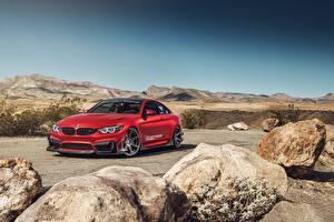 Фото BMW Красный M4 автомобиль