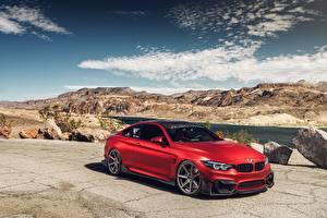 Картинка BMW Красных M4 автомобиль